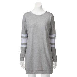 Love, Fire Football Sweatshirt Dress